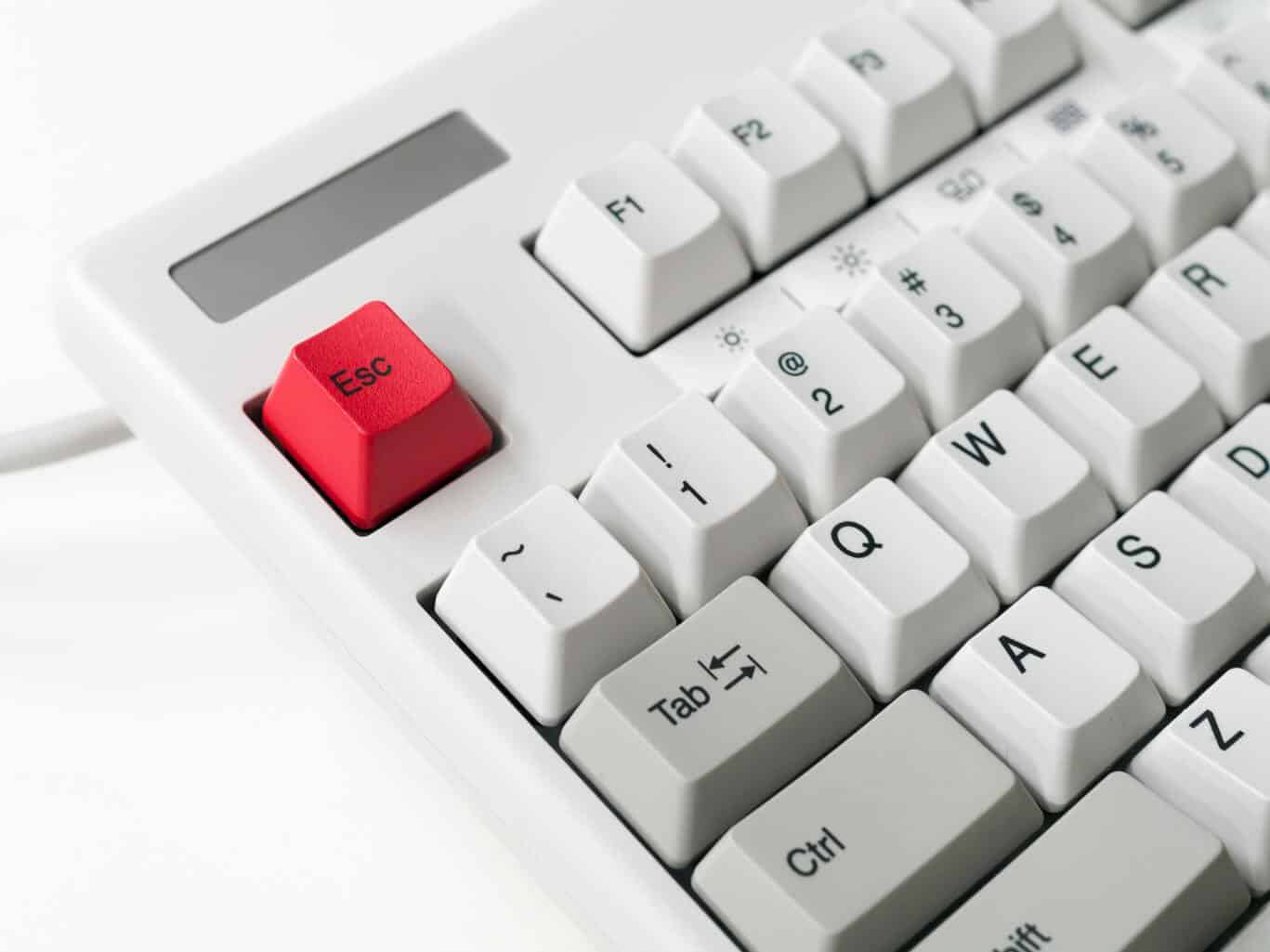 red escape button on computer