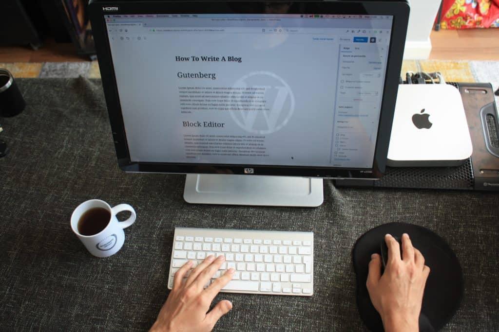 acomputer showing wordpress post template